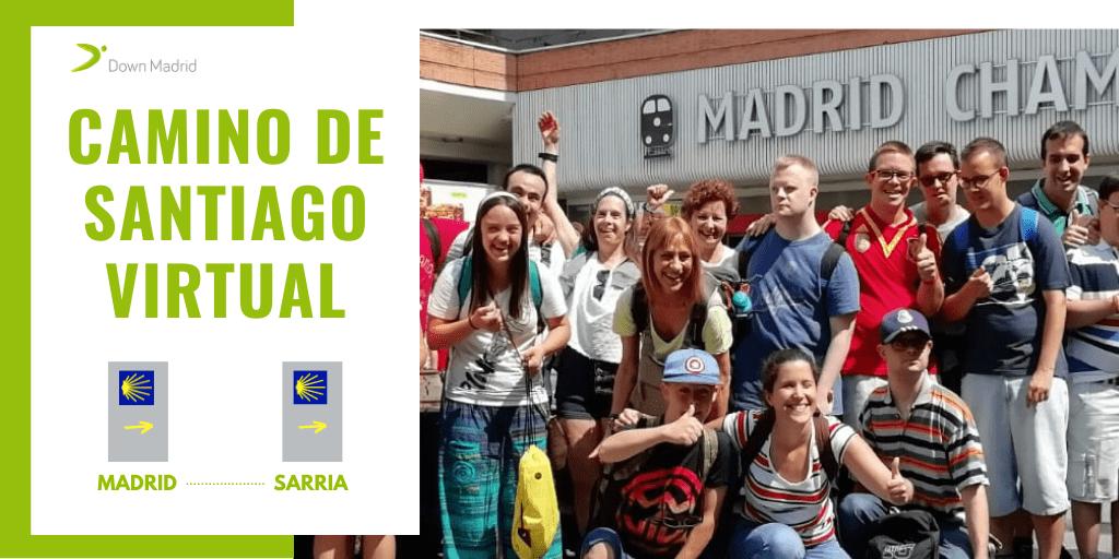 Cartel Camino de Santiago Virtual de Down Madrid