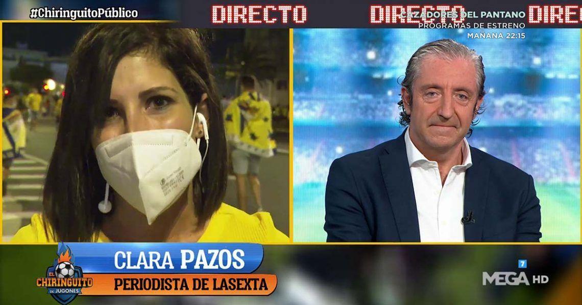 La periodista Clara Pazos interviniendo en el programa 'El Chiringuito'