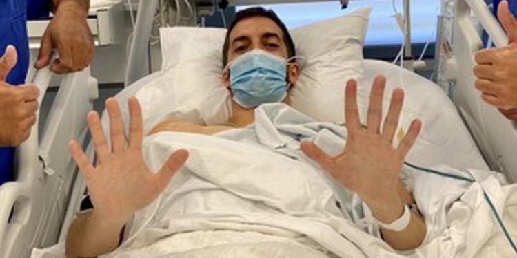David Broncano tras salir de quirófano
