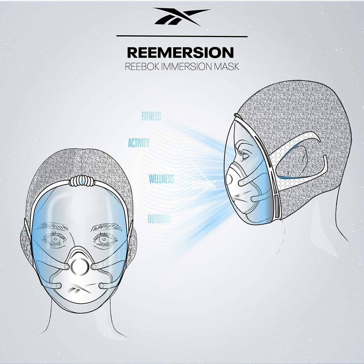 Mascarilla reemersion de Reebok