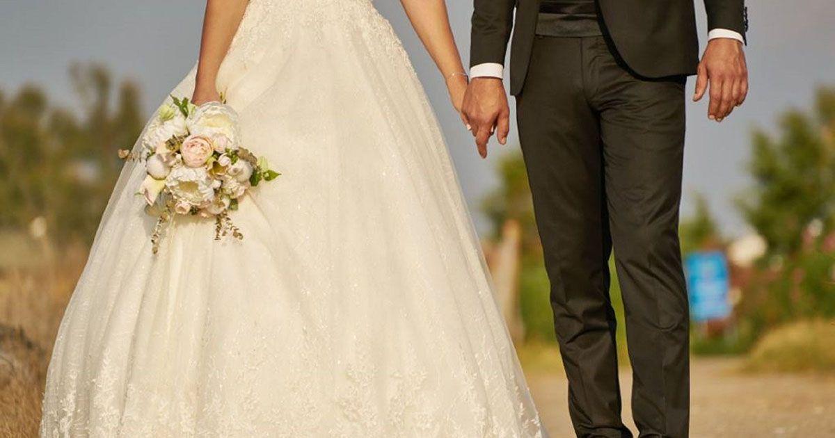 Marido y mujer durante la boda