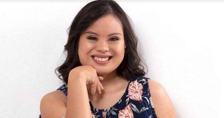 Evelyn Labanda, presentadora con síndrome de Down