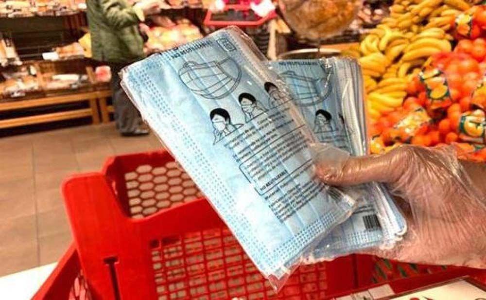 Mascarillas supermercado