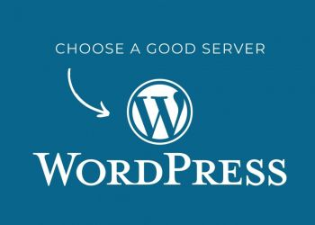 Choose a good server wordpress
