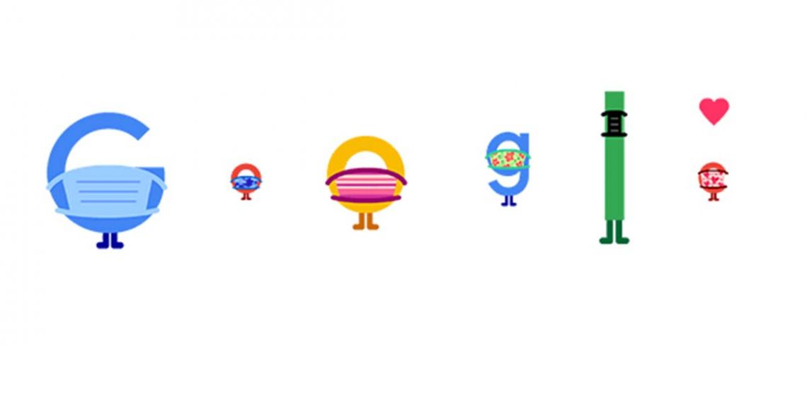 Doodle de Google sobre la prevención del Covid-19