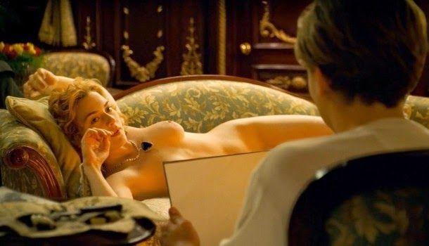 Escena en la que Jack pinta a Rose en Titanic
