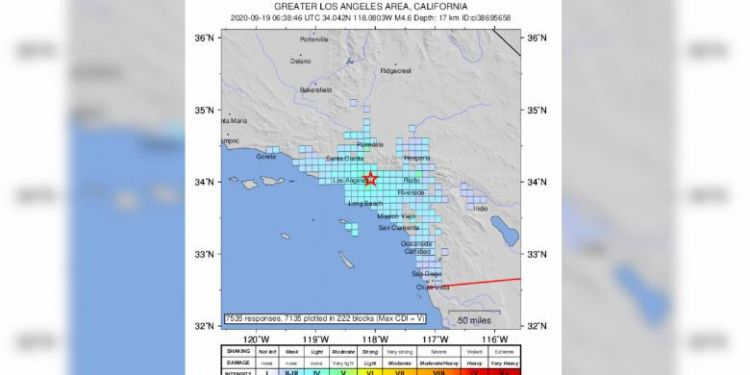4.5 magnitude earthquake detected in Southern California