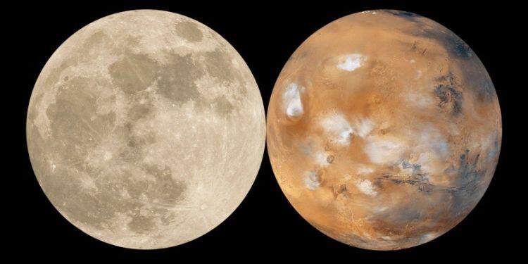 Beso luna y Marte