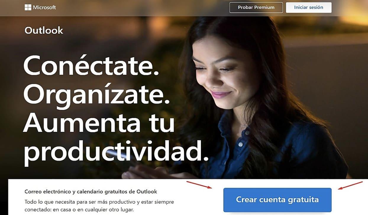Crear cuenta correo electronico hotmail