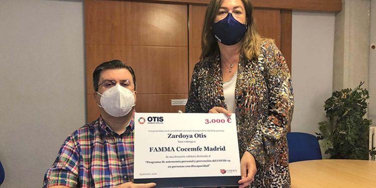 Donación económica zardoya otis Famma cocemfe