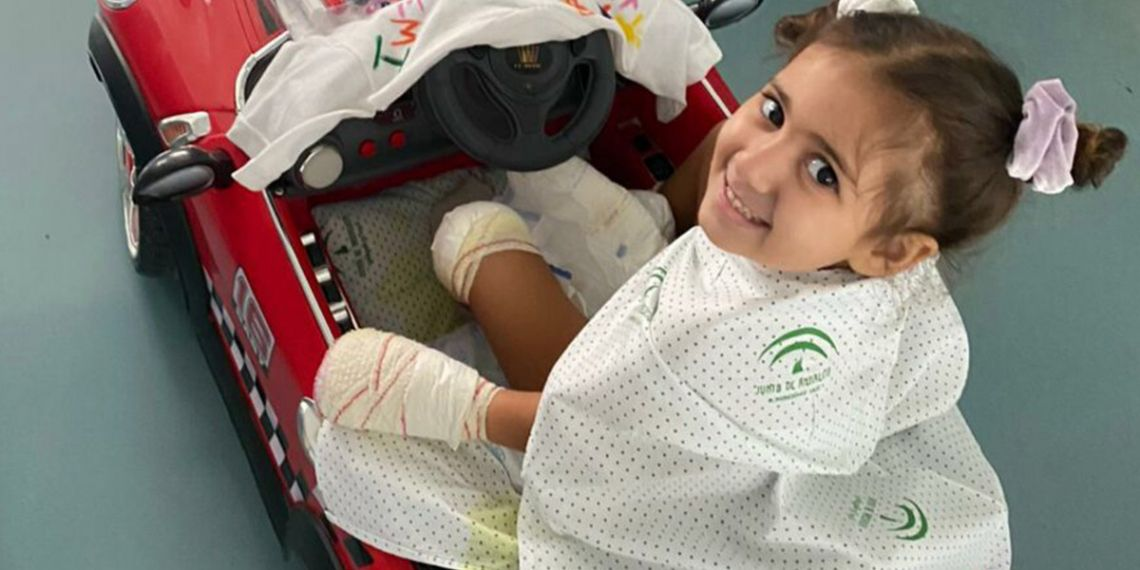 Carlota niña de cuatro años de Vélez-Málaga