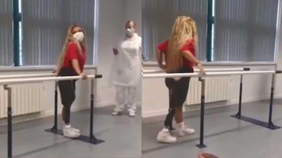 Una enfermera aprende a caminar después de que le amputarán una pierna debido al cáncer