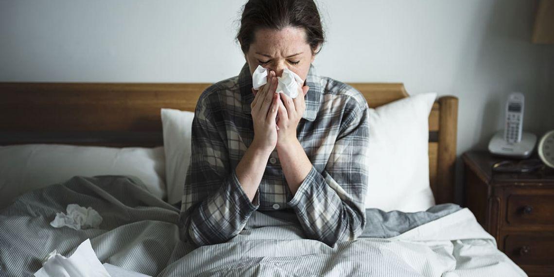 Gripe y coronavirus - Mujer