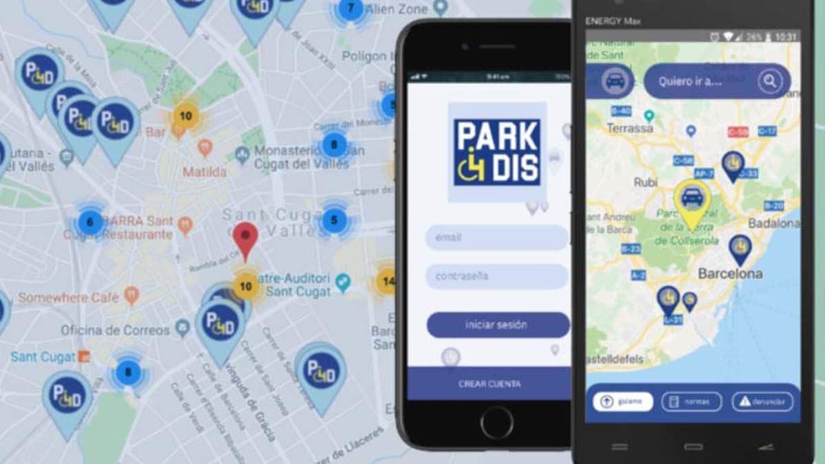 Park4dis, aplicación para encontrar aparcamientos para personas con movilidad reducida (PMR)