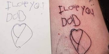 Tatuaje hija con cáncer