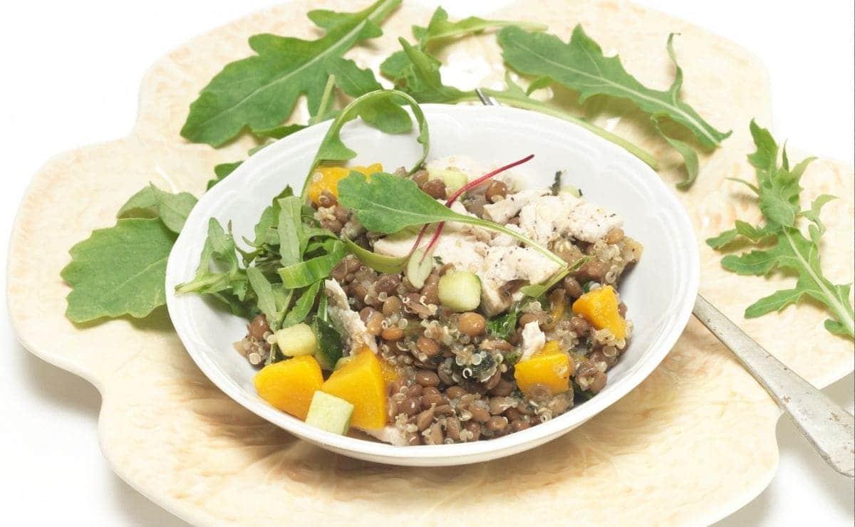Ensalada lentejas quinoa