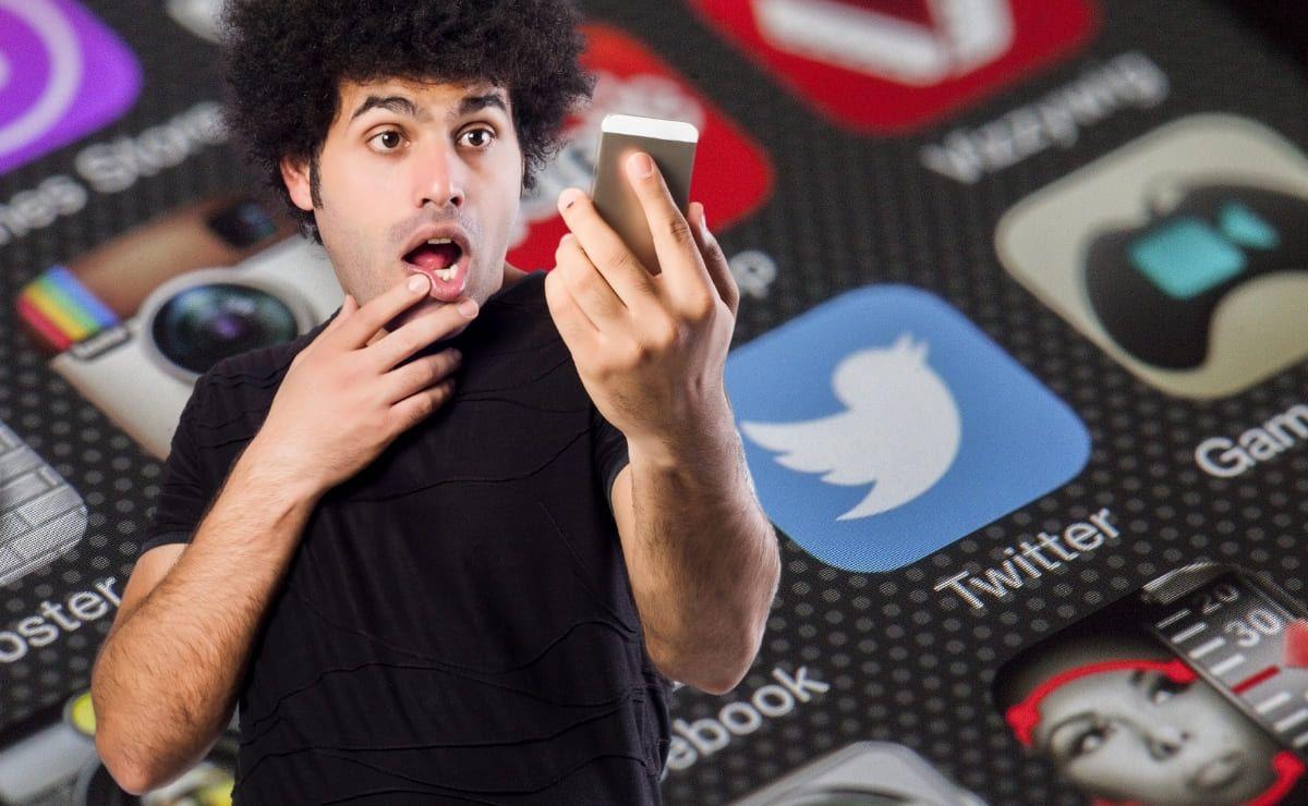 Hombre con Twitter