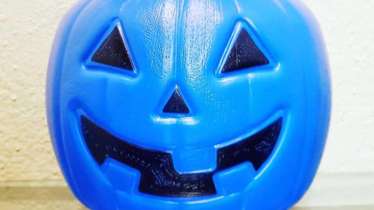 Calabaza azul de Halloween