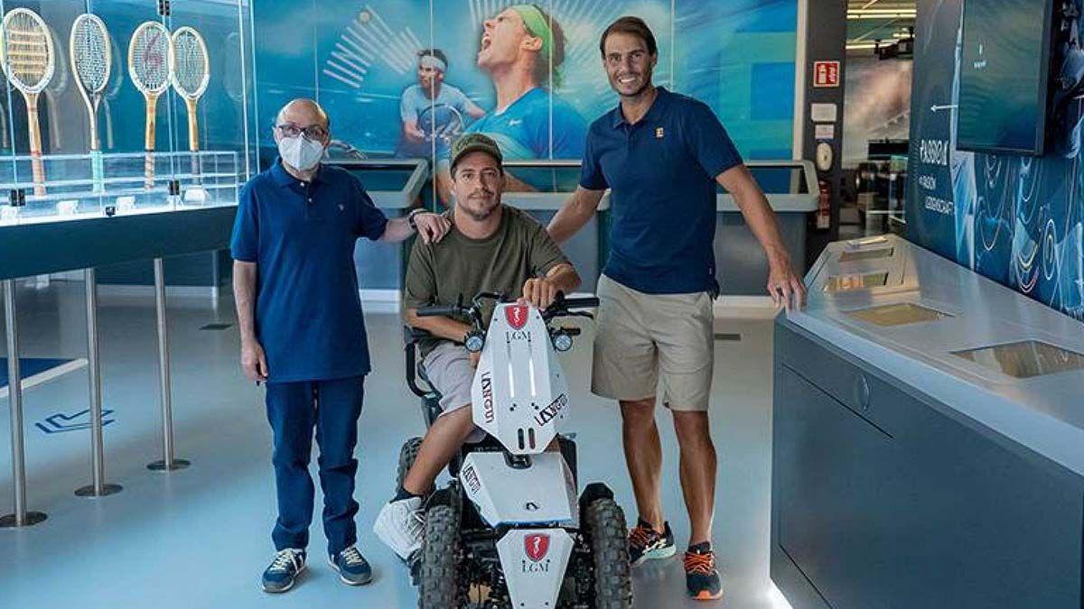 El Langui, Jesús Vidal y Rafa Nadal durante el programa 'Donde viajan dos'