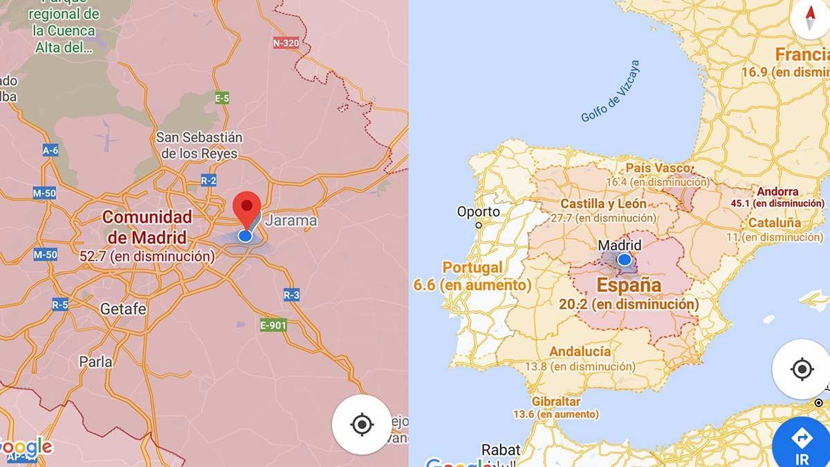 Google Maps y su nueva función para detectar casos de coronavirus