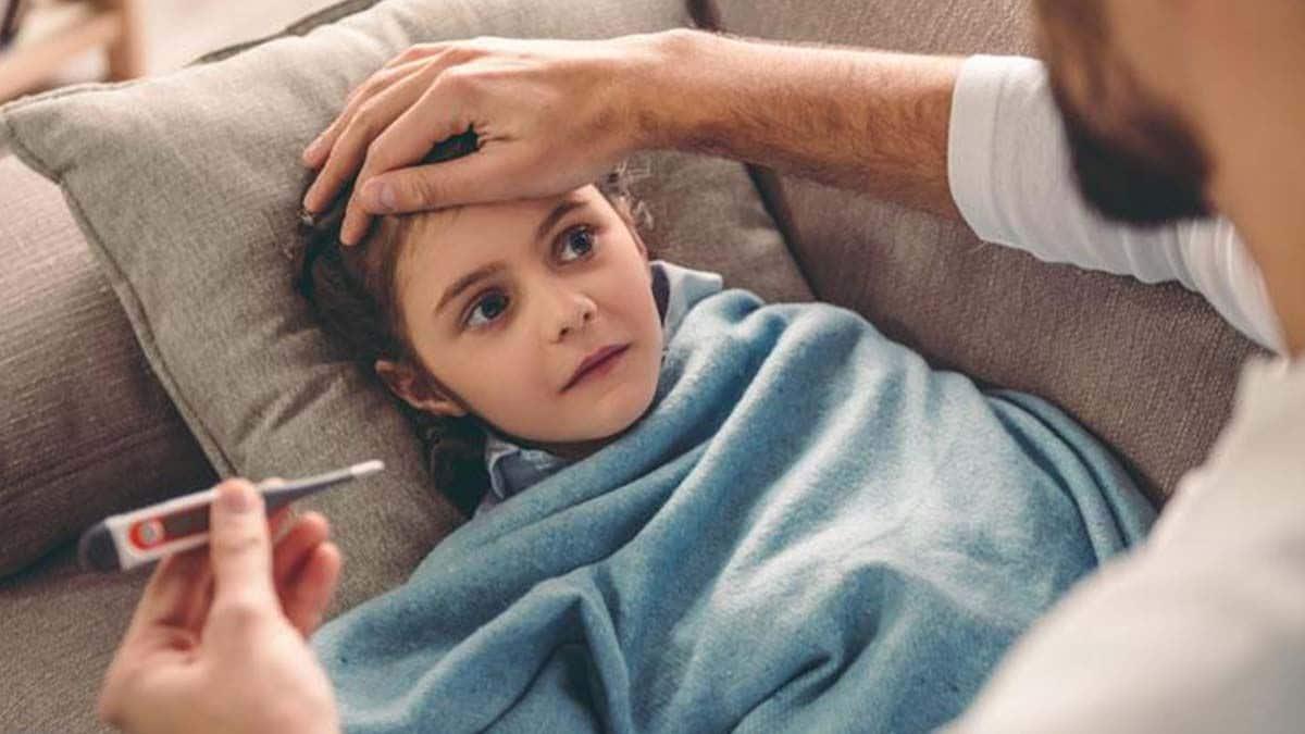 Gripe coronavirus resfriado niños