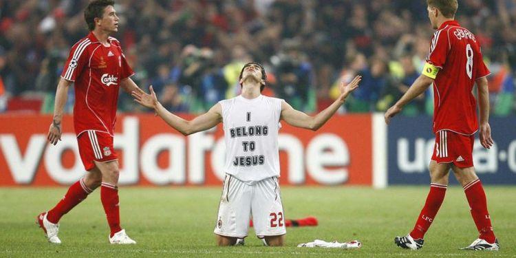 Kaká durante la Final de la Champions de 2007