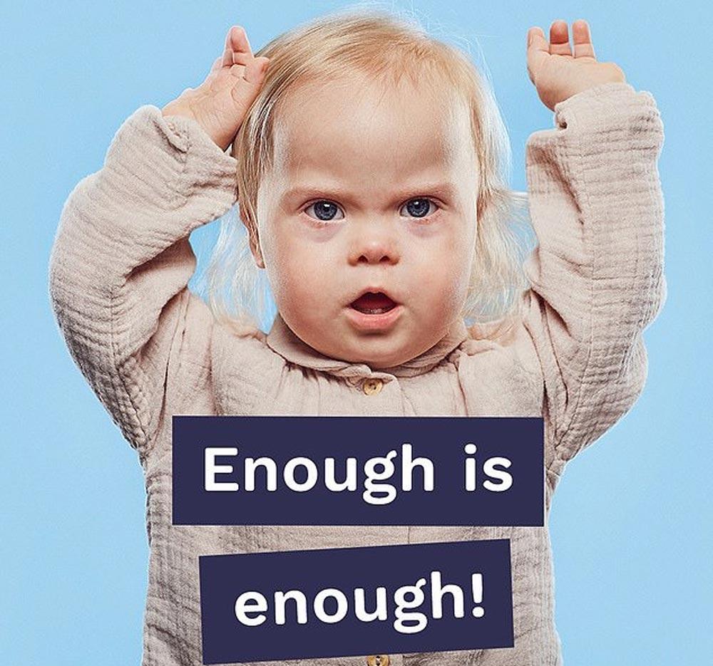 Willow Welbourn, bebé con síndrome de Down, protagonista de una campaña de publicidad