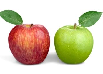 Manzana roja y verde