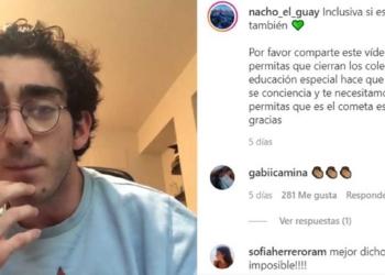 Ignacio Santías, joven con parálisis cerebral