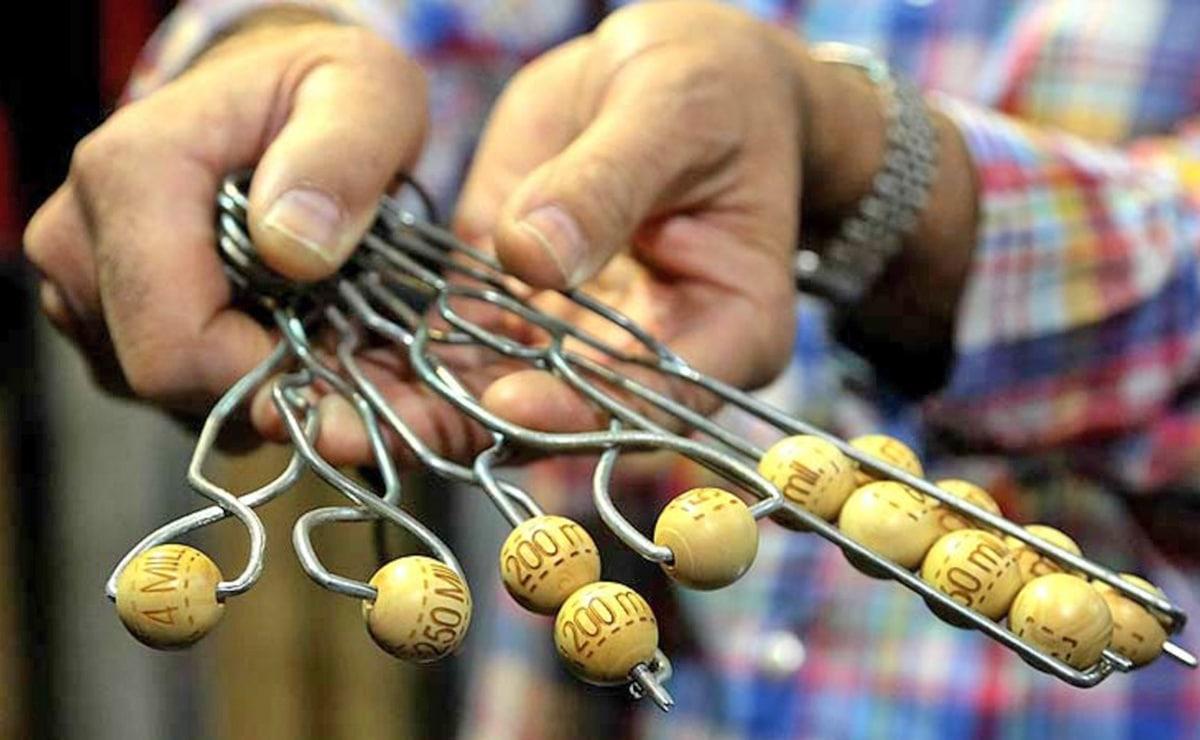 Bolas del sorteo de la Lotería de Navidad