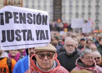 Manifestación contra las pensiones