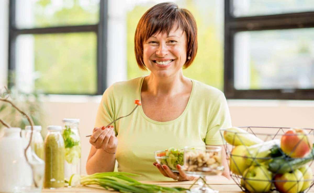 Mujer bajar de peso menopausia