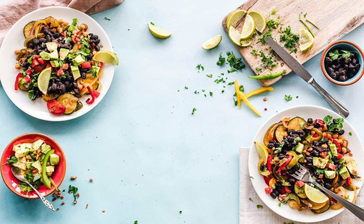 comida vegetariana para una dieta sana