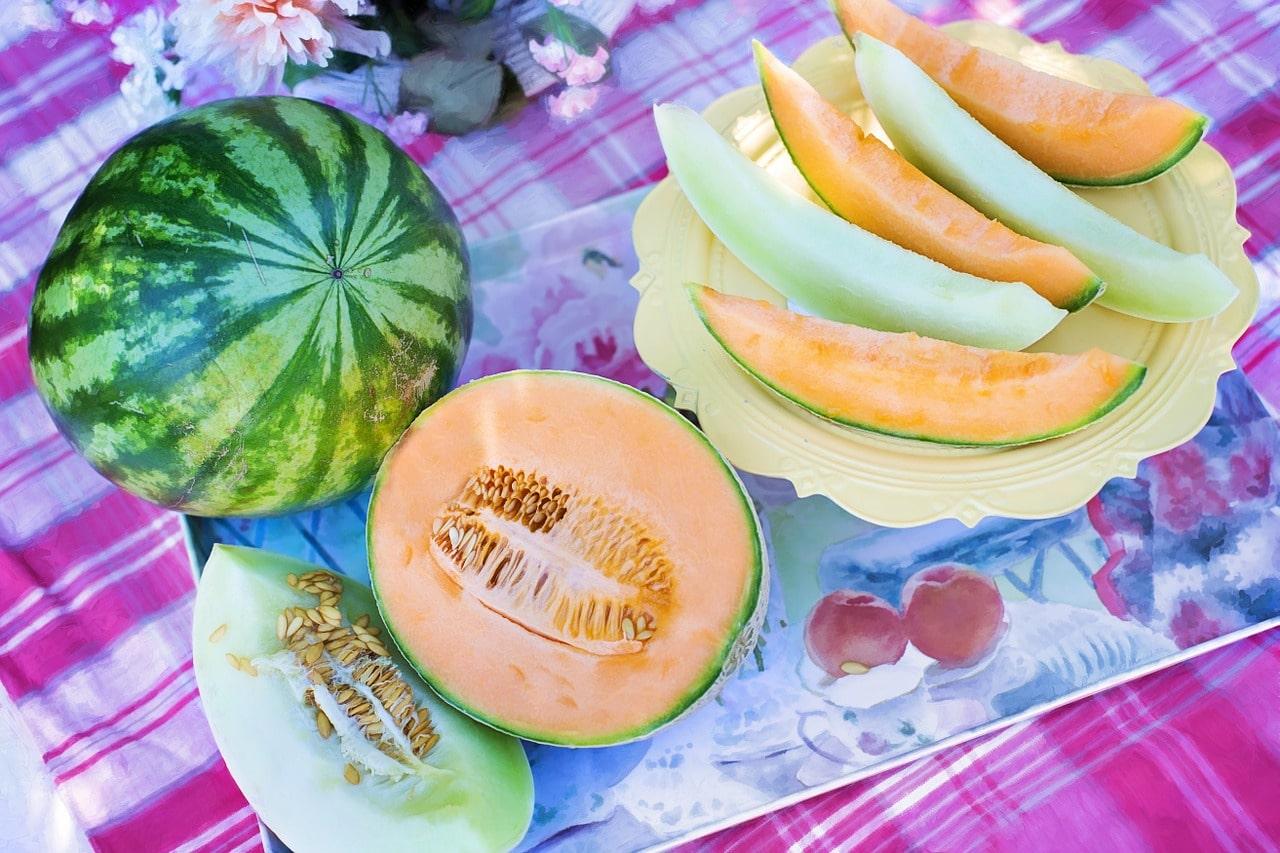 trozos de melón para jugo