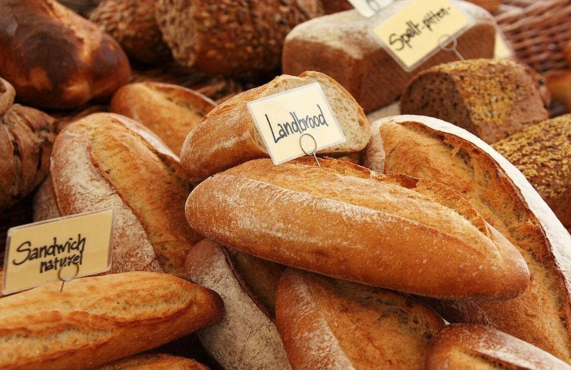 el pan es erradicado de la dieta libre de gluten