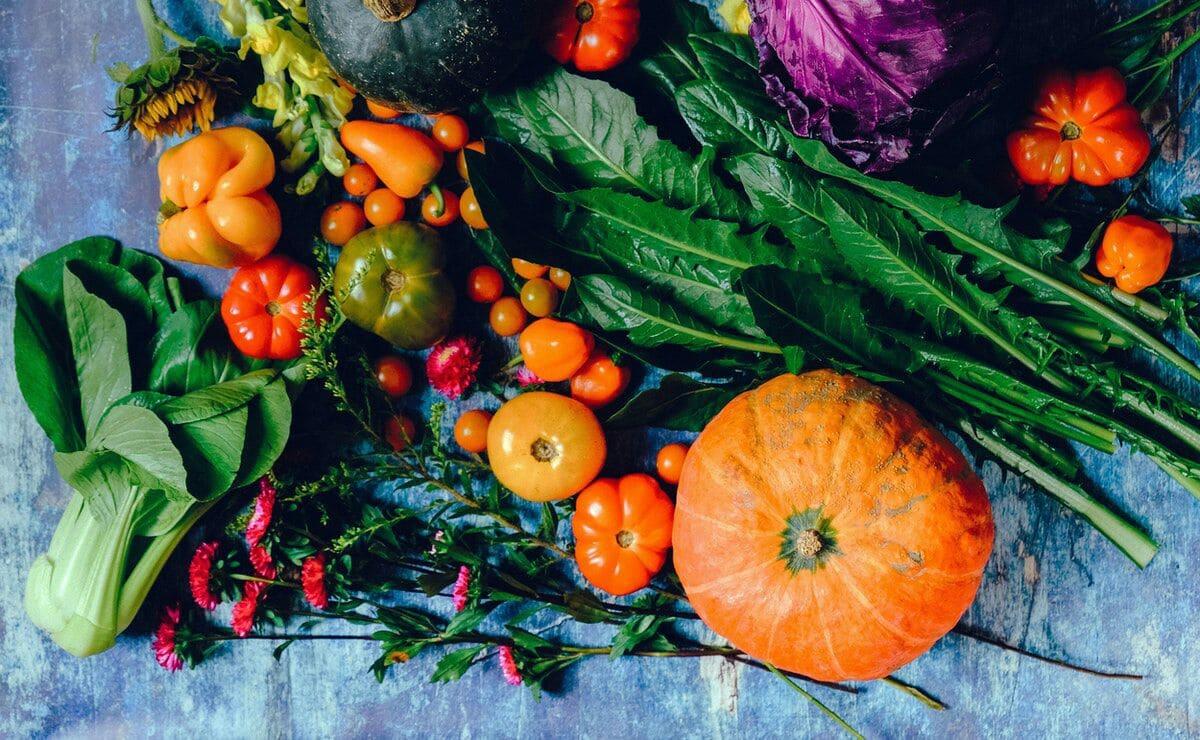 Vegetales en la dieta diaria antioxidante
