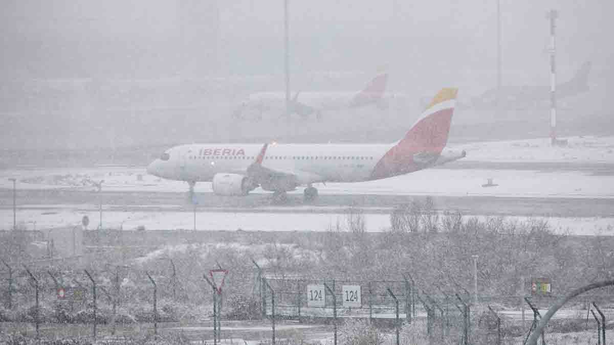 Vuelos cancelados en el aeropuerto Adolfo Suárez