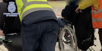 Cocaina en silla de ruedas