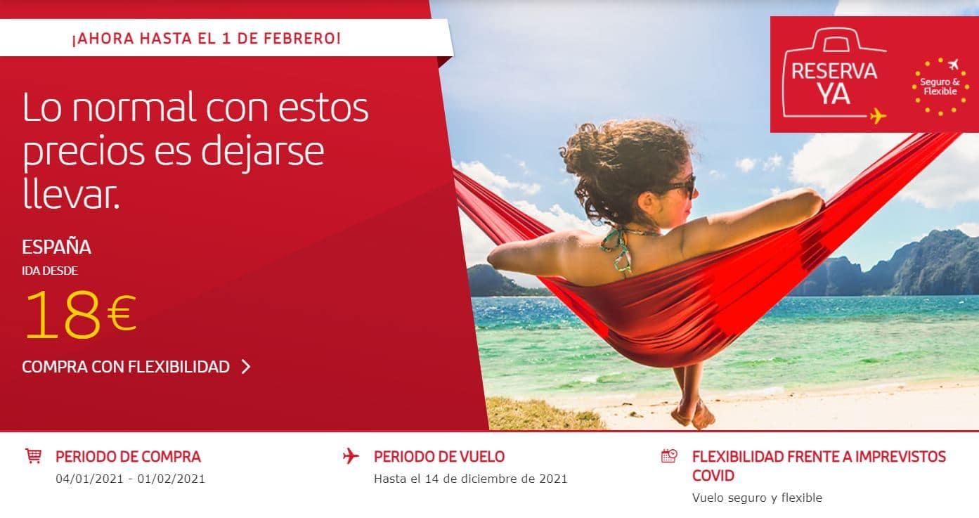 Ofertas de vuelos en Iberia