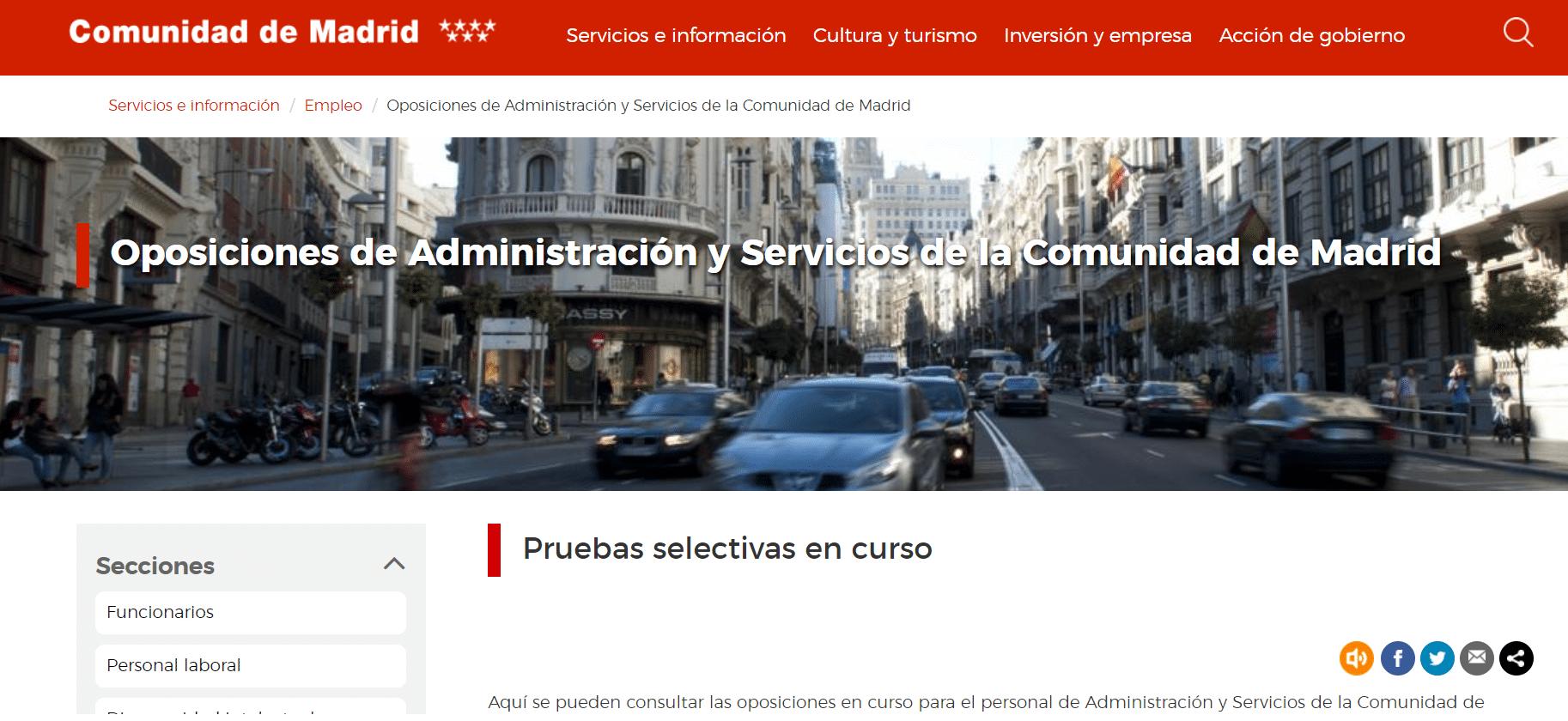 Portal de la Comunidad de Madrid