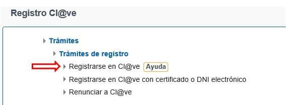 Registrarse en Cl@ve Seguridad Social