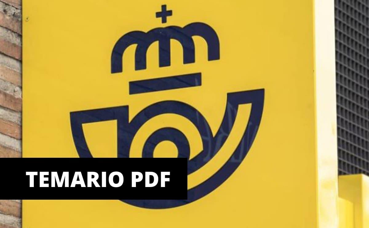 TEMARIO CORREOS PDF