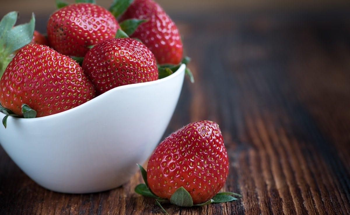 usa las fresas para tu zumo de invierno