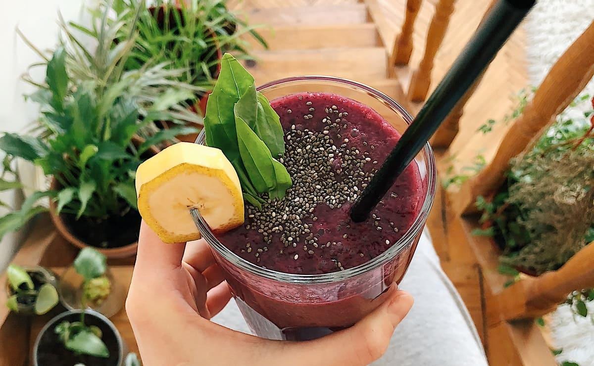 zumo de arandanos y chia