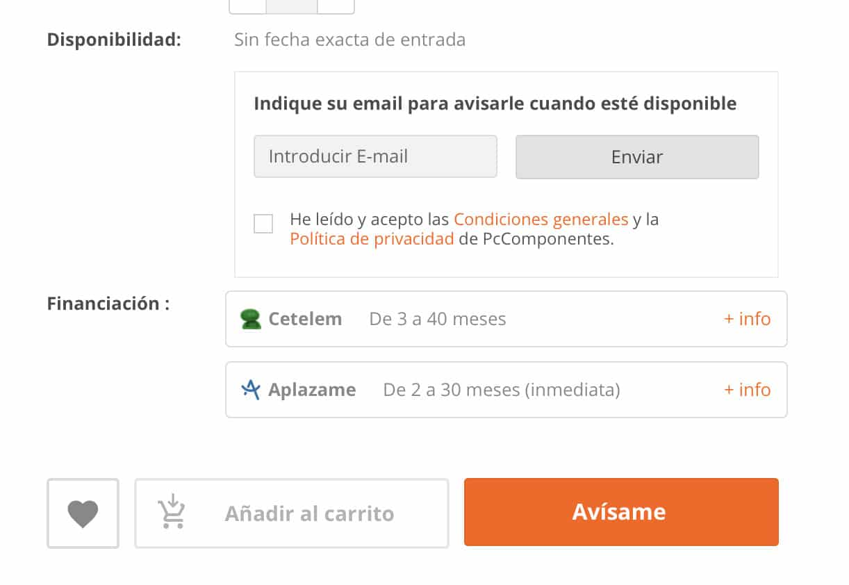Añadir email reservar ps5