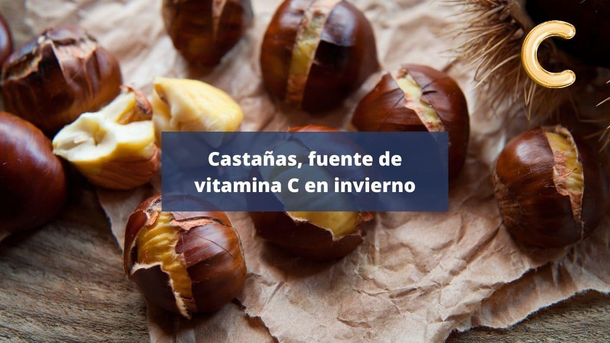 Castañas vitamina C