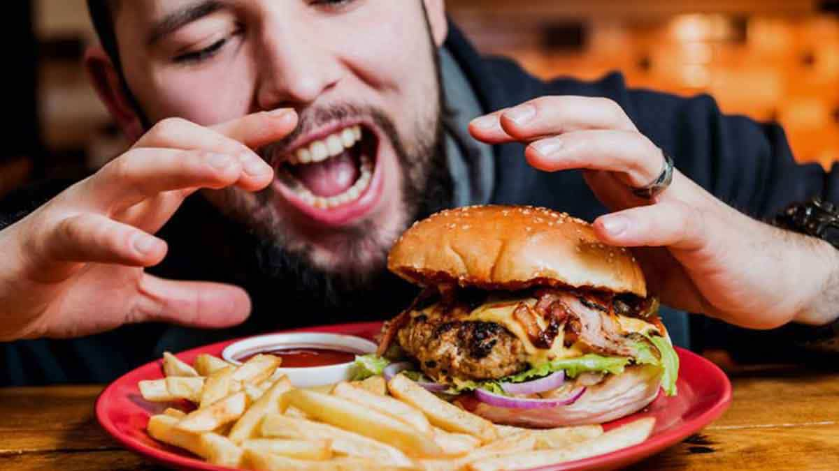 Comer rápido comida basura triglicéridos