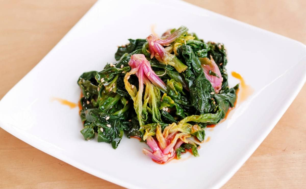 Ensalada de espinacas y soja