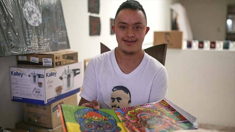 Franco Parra, el joven con sindrome de Down que sueña con ser profesor de arte