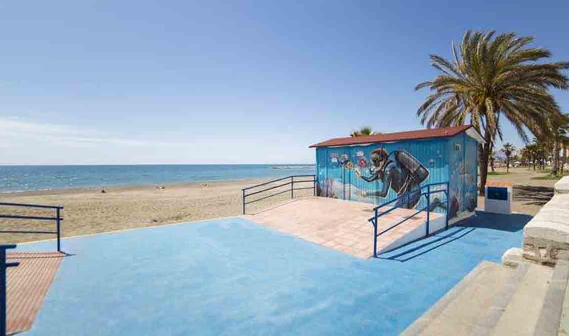 Playa accesible en Málaga